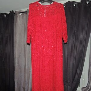 Red Prom PARTY DRESS LIKE NEW
